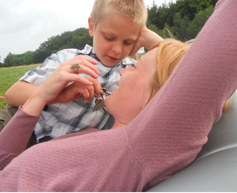 Mor og dreng