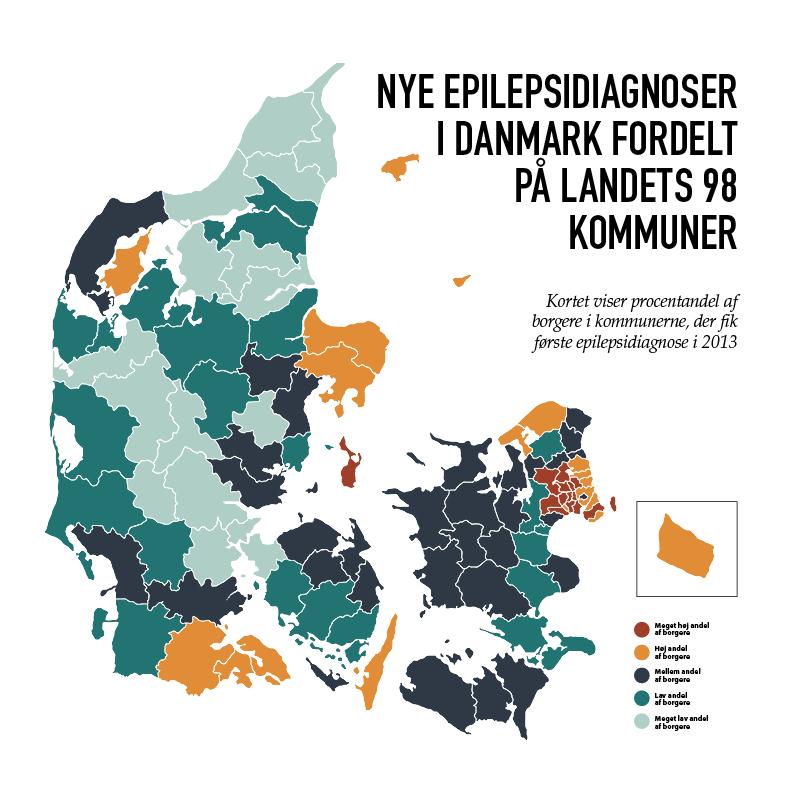 Danmarkskort med epilepsidiagnoser